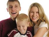 Family of three isolated 2 — Stock Photo