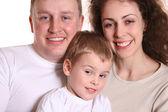 Family with boy — Stock Photo