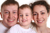 Family with boy 2 — Stock Photo