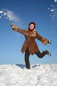 Winter happy girl 2 — Stock Photo