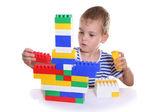 Kind met blokken — Stockfoto