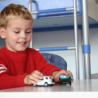 Child play with cars — Stock Photo