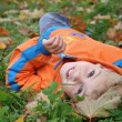 Autumn child — Stock Photo