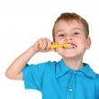 Child with tooth brush — Stock Photo