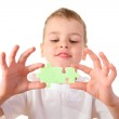 Child with puzzle 2 — Stock Photo