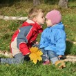 Stock Photo: Children kiss
