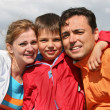 Family with boy. faces - Stock Photo