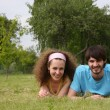 Couple on grass — Stock Photo #3540567