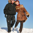 winter couple — Stock Photo