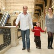 Family walking in shop — Stock Photo