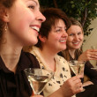 Girls with martini — Stock Photo