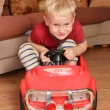Boy car toy - Stock Photo