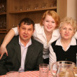 Senior couple with daughter — Stock Photo