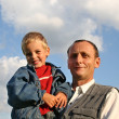 Grandfather with boy - Stock Photo