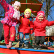 Jumping team in kindergarten — Stock Photo