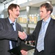 Business couple with contract 2 - Foto de Stock