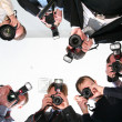 Stock Photo: Paparazzi under victim