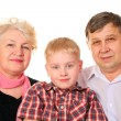 Stock Photo: Grandparents with grandchild