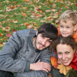 Autumn family — Stock Photo