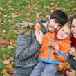 Stock Photo: Autumn family