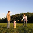 Family with baby play — Stock Photo