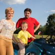 Family and bike 2 - Stock Photo