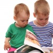 Children and book — Stock Photo