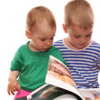 Children and book — Stock Photo #3541373
