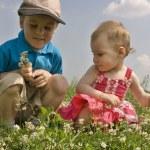 Children on meadow 2 — Stock Photo #3541374