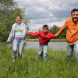 Running family - Stock Photo