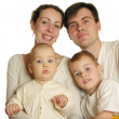 Family of four isolated — Stock Photo