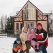 Winter family house — Stock Photo