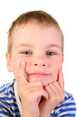 Smile boy with hands — Стоковое фото