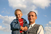 Grandfather with boy — Stock Photo