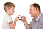 Balón de fútbol nieto — Foto de Stock