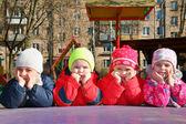Bored team in kindergarten — Stock Photo