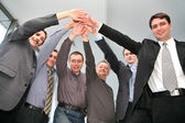 Business friends with hands — Stock Photo