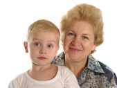 Grandmother with boy 3 — Stock Photo