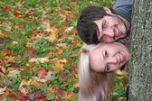 Herfst paar hoofden — Stockfoto