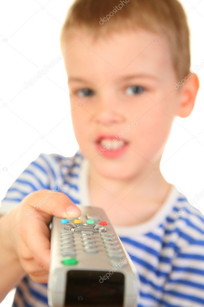 Boy with remote control — Stock Photo #3540322