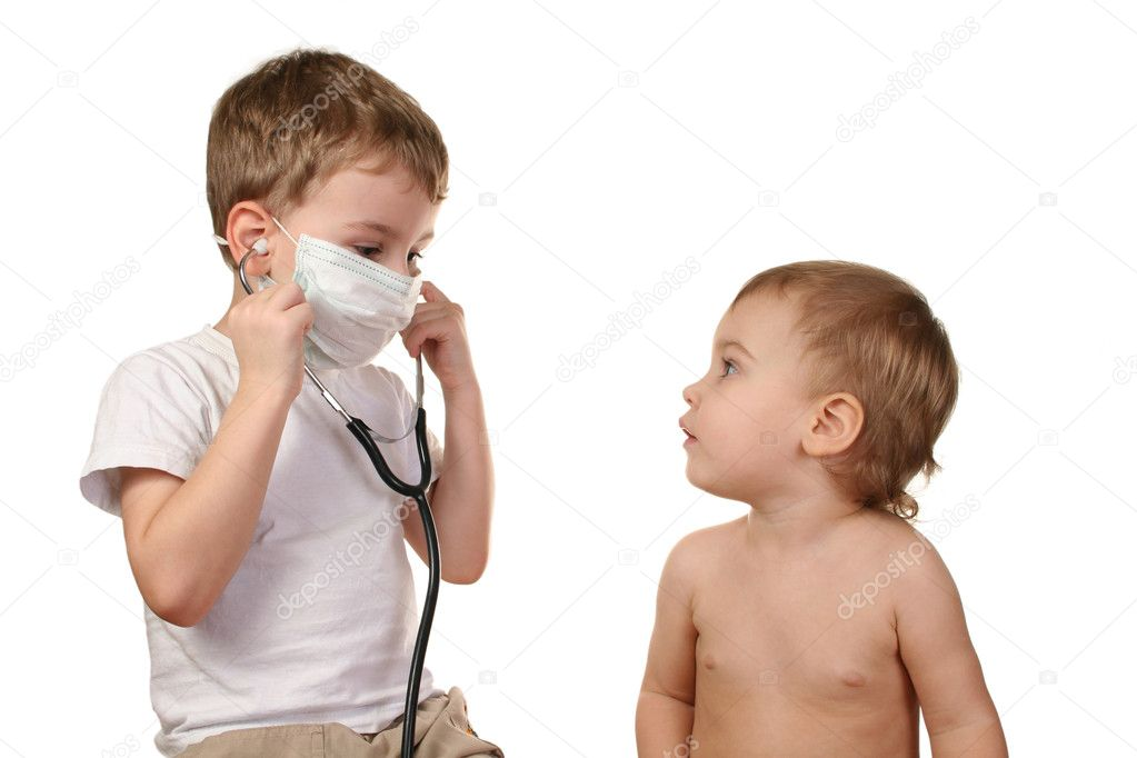 Children play doctor 2 — Stock Photo #3541393