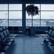 Royalty-Free Stock Photo: Waiting room airport. blue. planes