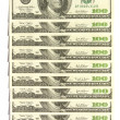 Dollar wall - Stock Photo