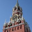 Moscow kremlin clock — Stock Photo