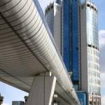 Office building and bridge — Stock Photo