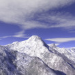 Mountain montblanc rendering — Stock Photo
