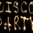 Disco party sparkler — Stock Photo