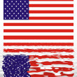 Stock Photo: Usflag reflection