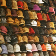Hats in shop — Stock Photo