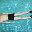 Diving man in pool — Stock fotografie #3643022